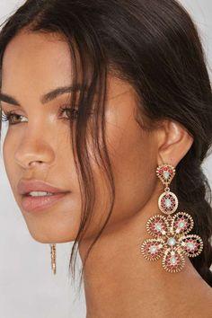 Flower Up Drop Earrings - The Summer Shop