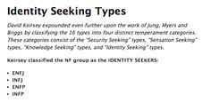 I'm an Identity-seeker--and so are you, Taylor Roberts! This is what makes us awesome Meyers Briggs Personality Test, Rarest Personality Type, Enfp Personality, Personality Psychology, Mbti Functions, Manic Pixie Dream Girl, Infj Type, Myers Briggs Personalities, Enfj