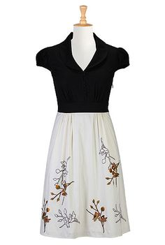 Bird song two-tone dress - eshakti.com they ask you your height so the dress is always the right length!