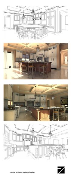 Kitchen Computer Rendering- photo realistic