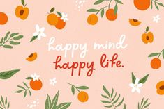 Happy Mind Happy Life, Happy Minds, Handwritten Fonts, Script Fonts, Movement Quotes, Donut Shop, Font Setting, Beautiful Fonts, Aesthetic Colors