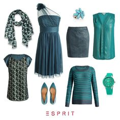 We present you this autumn's accent colour petrol. Combine it with #denim, dark blue or black and you can be certain to get the wow effect. #Esprit