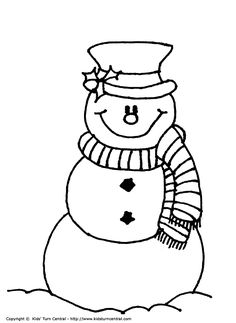 Frosty the Snowman Printables | Frosty the Snowman color page - Christmas Coloring pages - Holiday ...
