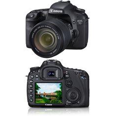 Câmera Fotográfica Digital Profissional 7D -  Monitor LCD 3´´ 18MP -  Canon