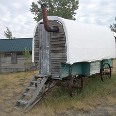 Sheep wagon at Virgelle Mercantile Bed and Breakfast, Montana, USA. #travel #unique #hotels