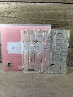 CTMH Close to my Heart Random Thoughts D1130 - acrylic stamp set by AboveParrCrafts on Etsy