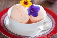 sorvete de iogurte