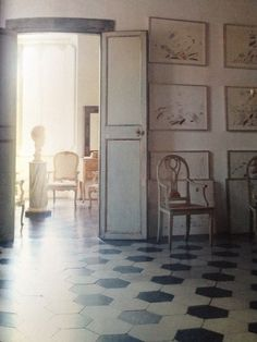 Floor. Cy Twombly's.