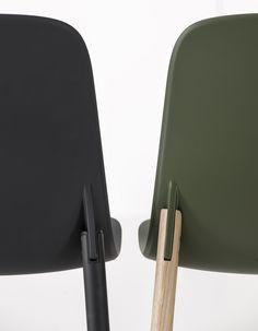 Silla tapizada de tela Colección Sharky by Kristalia | diseño Neuland Industriaedesign