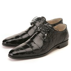 b71a47c7615 Fennix Black Genuine Body Alligator Oxford Gentleman Shoes, Mens Designer  Shoes, Your Shoes,
