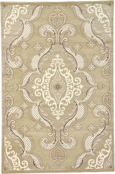 Light Brown Meshkabad Design Area Rug