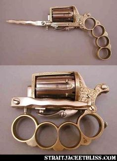 Brass Knuckle Knife Gun = all your bases covered.
