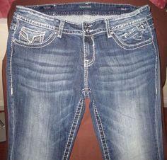Vigoss Jeans (Women's Pre-owned Mid-Rise Plus Size Slim Boot Designer Jean Pants)