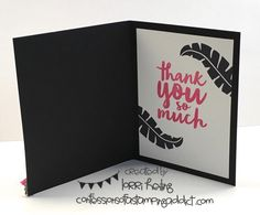 Pop of Paradise! :: Confessions of a Stamping Addict Lorri Heiling Summer Flamingo Stampin' Up Thankful Thoughts