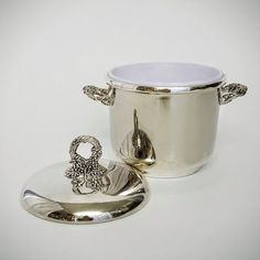 Vintage Lidded Ice Bucket Cooler, Silver Plate Ice Bucket With Lid by DecadesEmporium on Etsy