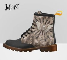 Fingers crossed but I'm hoping you'll love this: Skull Heart Print Boots, Fashion Boots, Dr. Marten Style Boots, Hiking Boots, Walking Boots, Goth Art Boots by Juleez https://www.etsy.com/listing/538093044/skull-heart-print-boots-fashion-boots-dr?utm_campaign=crowdfire&utm_content=crowdfire&utm_medium=social&utm_source=pinterest