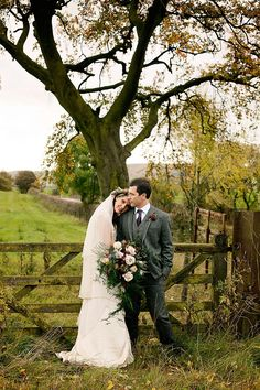 A Catherine Deane Gown for a Locally Sourced and Seasonally Grown, Rustic Autumn Wedding on the Farm.  Photography by Jo Bradbury.