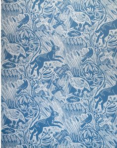 Harvest Hare, Provencal Blue – The Pattern Collective Butterfly Wallpaper, Print Wallpaper, Colorful Wallpaper, Pattern Wallpaper, Blue And White Wallpaper, William Morris Wallpaper, Morris Wallpapers, Blue Wallpapers, Green Butterfly
