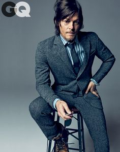 Norman reedus gq magazine october 2013 style 01