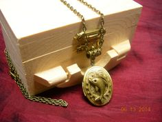 Steampunk Gear Dolphin Locket Necklace  Gift by mythicaljewelry, $19.99