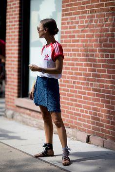 New York Fashion Week, spring-summer 2017: street style.  Part 2 (27 photos)