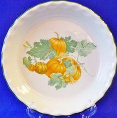 Apilco France Porcelain Pumpkin PIE PLATE Plate