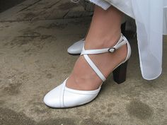 klárka's white wedding shoe, #wedding #shoes