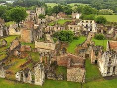 Oradour-sur-Glane was a farming community near Limoges. On June 9, 1944, this was a small French village with 652 people living in it. On June 10 the town was destroyed by Nazis and 642 villagers died. It stands now untouched and alone, a reminder of the horrors of war.