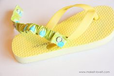DIY heel straps - great idea for toddlers who have trouble keeping their flip-flops on