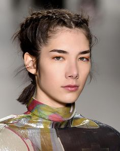 Braids For Short Hair - A sportier take on the french pigtails, dual dutch braids.