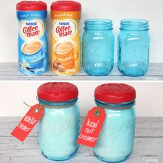 45 Double-Duty Tips for Household Items. Wow, Coffee-Mate creamer lids fit perfectly onto mason jars! So save them & use the jars to store flour, sugar & other pourables.