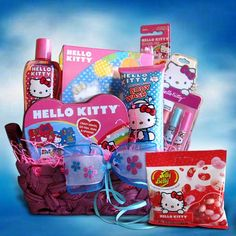 ($89.99) Hello Kitty Toiletry Gift Basket Ideal for Birthday and Get Well Soon Basket for Girls  From Gift Basket 4 Kids   Order it here: http://astore.amazon.com/claireturn78-20/detail/B007JBBSKE/183-4507112-2051412