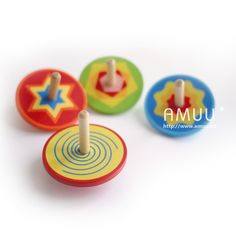 4pcs/lot multicolored Spinning top,colorful Wood gyro,Kindergarten toys,Wood toys,Birthday gift,Christmas toys
