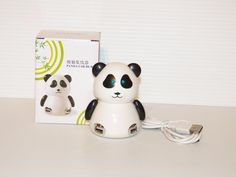Cute Panda Animal 4 Port USB Hub 2.0 for Pc and Laptop