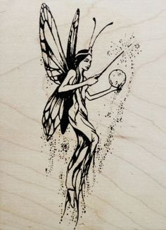VIP Rubber Stamp Magic Butterfly Fairy Pixie Beautiful Visual Image Printery | eBay