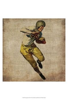Showcase your love for sports in a vintage-inspired way with the Art Effects Vintage Sports III Framed Wall Art . This retro football player is depicted. Painting Frames, Painting Prints, Wall Paintings, Canvas Art Prints, Canvas Wall Art, Diy Canvas, Framed Art, Framed Prints, Art Vintage
