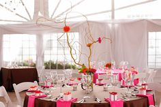 pink and grey wedding tablescapes | ... tablescapes to inspire you. Who doesn't love some cut-to-the-chase