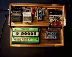 Pedalboard, Design, Guitar Pedals, Wood, Guitar, Design Comics