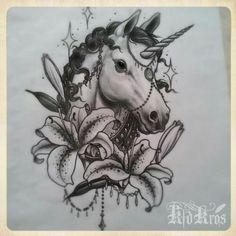 #Awsome #Unicorn #Flowers #Drawing
