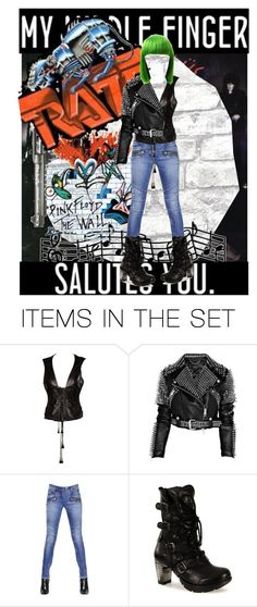 """Green hair!!!"" by ichthyoallyeinotoxism ❤ liked on Polyvore featuring art"