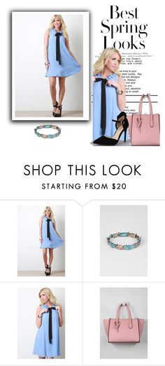 """""""Best Spring Looks - Little Blue Shift Dress"""" by the-walking-threads on Polyvore featuring H&M and Anne Michelle"""
