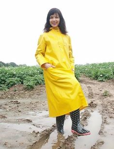 Pvc Raincoat, Yellow Raincoat, Plastic Raincoat, Imper Pvc, Rain Bonnet, Rubber Raincoats, Rain Suit, Rain Gear, Raincoats For Women