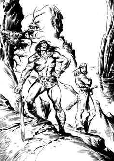 pics from pablo marcos artwork - - Yahoo Image Search Results John Buscema, Conan The Barbarian, Sword And Sorcery, Red Sonja, View Image, Amazing Art, Red Nails, Drawings, Marvel Comics