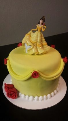 Beauty and the Beast Belle Birthday Cake peridotsweets Childrens