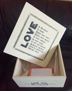 Keepsake box for RSVP's, wedding cards etc