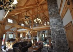 Cabin Creek Timber Frames is made up of a team of experienced professionals in Franklin, North Carolina who know their craft and are passionate about their craft. You can see this dedication illustrated in our Timber Frame construction portfolio below. Metal Roof Houses, House Roof, Timber Frames, Great Rooms, Barn, Construction, Exterior, Ceiling Lights, Gallery
