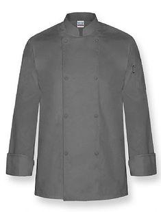 """""""Color"""" Chef Coat-Charcoal"""