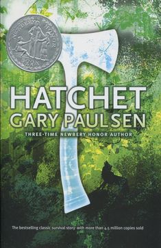 Thirteen year old Brian has two things when the plane that he is on to see his dad goes down: a secret and a hatchet. Can he survive in Canada's north woods? Will he live to reveal the secret? Read and see. Grades 6 and up Good Books For Tweens, Hatchet Book, 100 Best Books, Gary Paulsen, Read Aloud Books, Got Books, Book Recommendations, The Book, Novels
