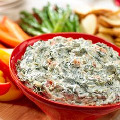 Perfect Party Spinach Dip: Serve with veggies or chips. #party #dip #spinach