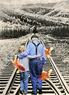 "Saatchi Art Artist: Nestow Sakaczbia; Paper Collage ""last straight to the finish"""